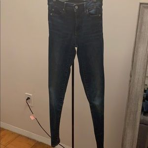 Dark Blue True Skinny High-rise Gap Jeans